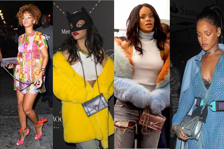 Rihanna с сумкой Dior Diorama