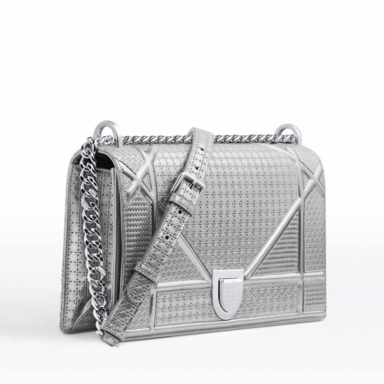 Аутентификация сумки Dior Diorama Metallic Bag