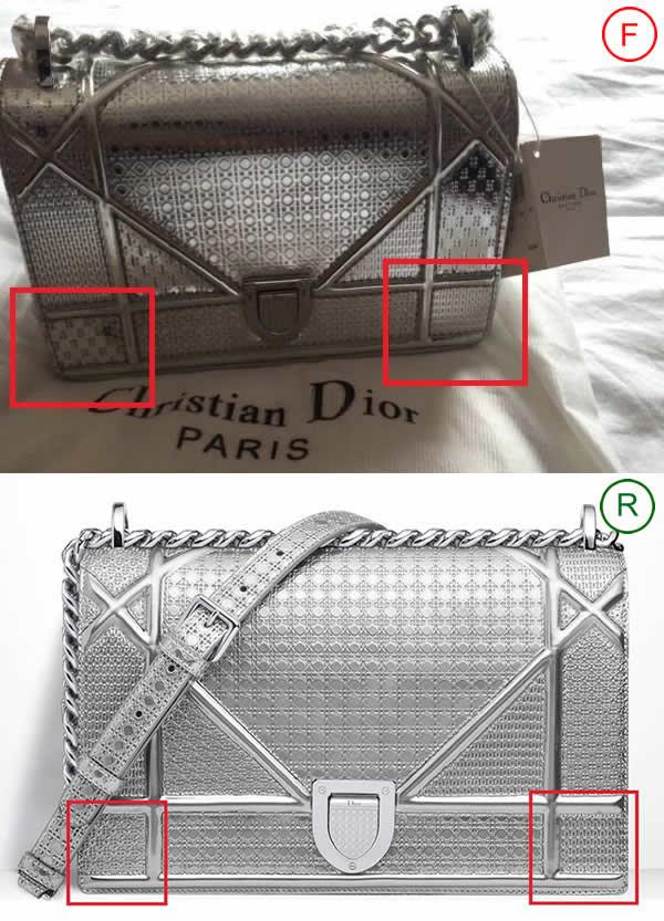 Перфорация на сумке Christian Dior Diorama Metallic