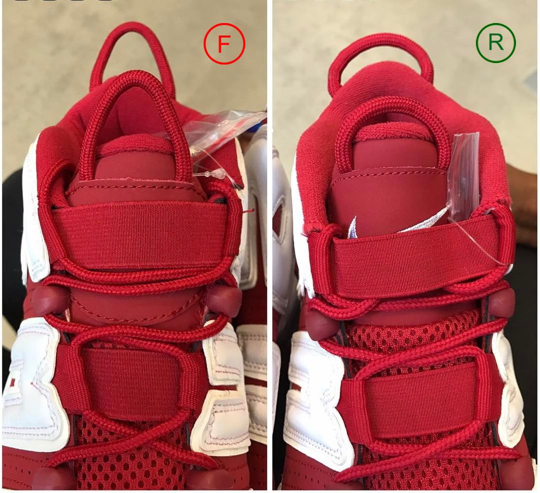 Вытяжная петля Nike Air More Uptempo Supreme Red white.