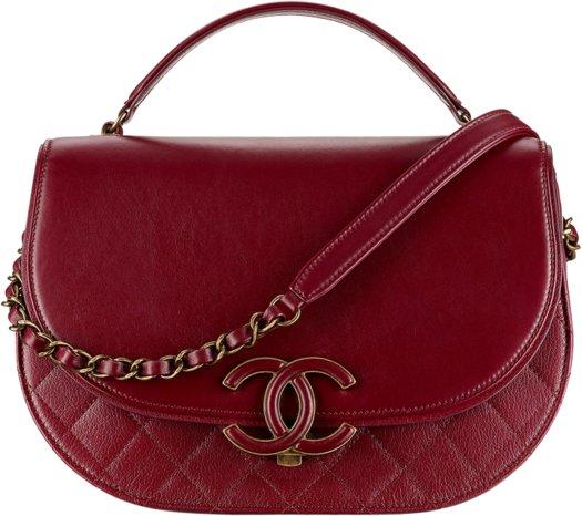 Сумка на плечо Chanel бордового цвета