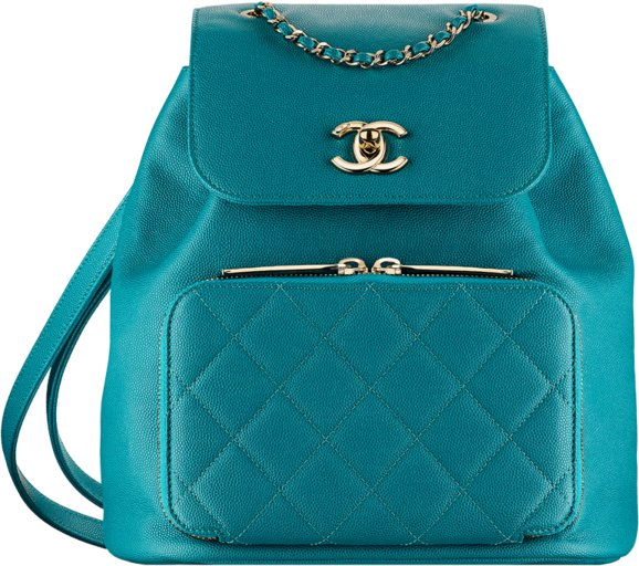Рюкзак Chanel из зеленой телячьей кожи