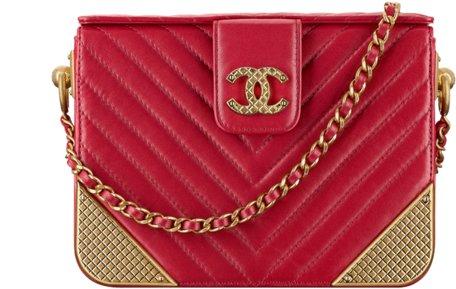 Вечерняя сумка Chanel красного цвета