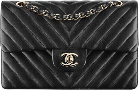Маленька классическая сумка-конверт Chanel черная