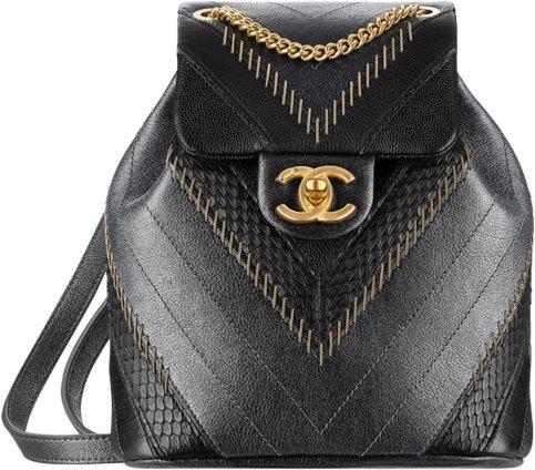 Рюкзак Chanel черный