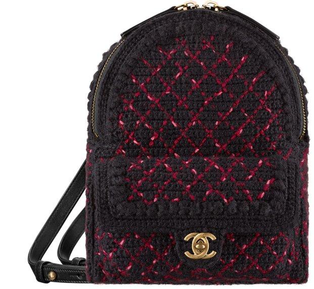 Трикотажный рюкзак Chanel