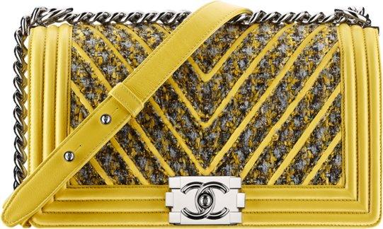 Сумка Chanel Boy желтая