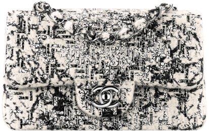 Сумка-конверт Chanel из расшитого твида